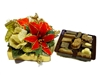 Christmas Flower Box with 4 Pieces of Chocolate