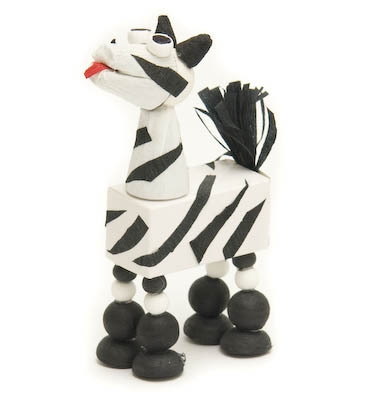 Zebra with 2 pieces of Chocolate