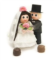 A Wedding Favor: Bride & Groom